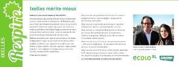 «Ixelles mérite mieux» – Respire juin 2012